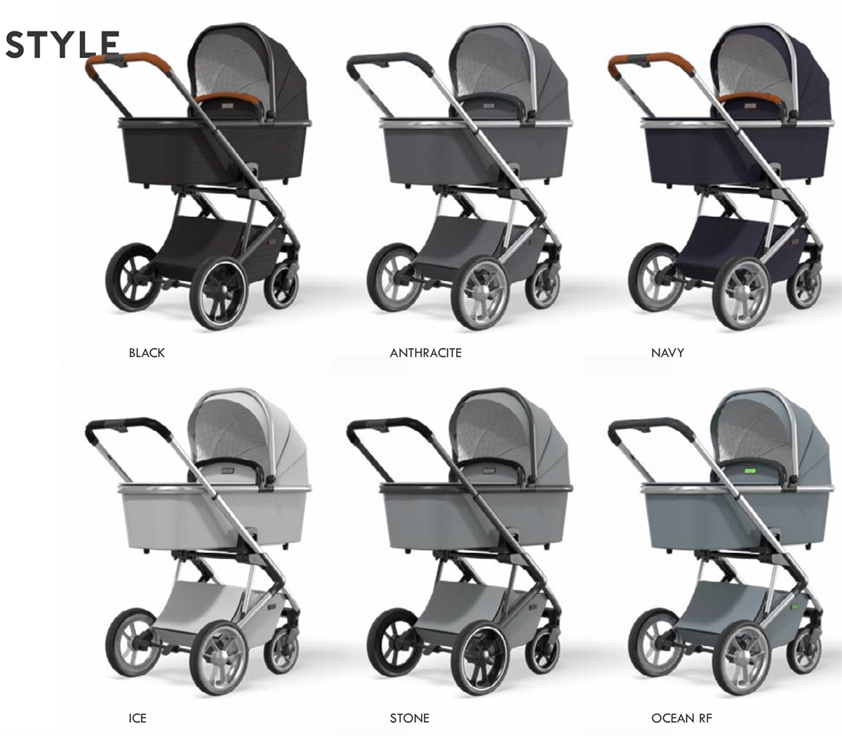 colores carrito bebe moon style